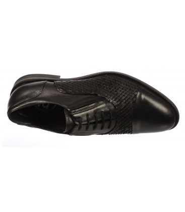 Čierne pánske topánky 607 - Paolo Gianni