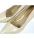 Béžové elegantné kožené lodičky na nízkom podpätku  861-6023