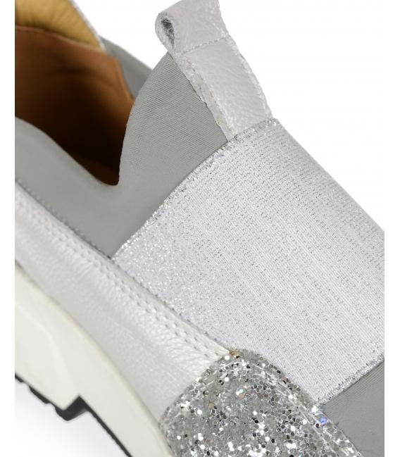 Bielo- strieborné tenisky FUTURA 3042