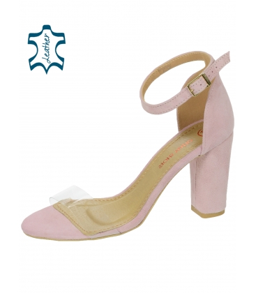 f445de5da1fa Bledoružové dámske sandále s priesvitným lemom DSA2050-1347