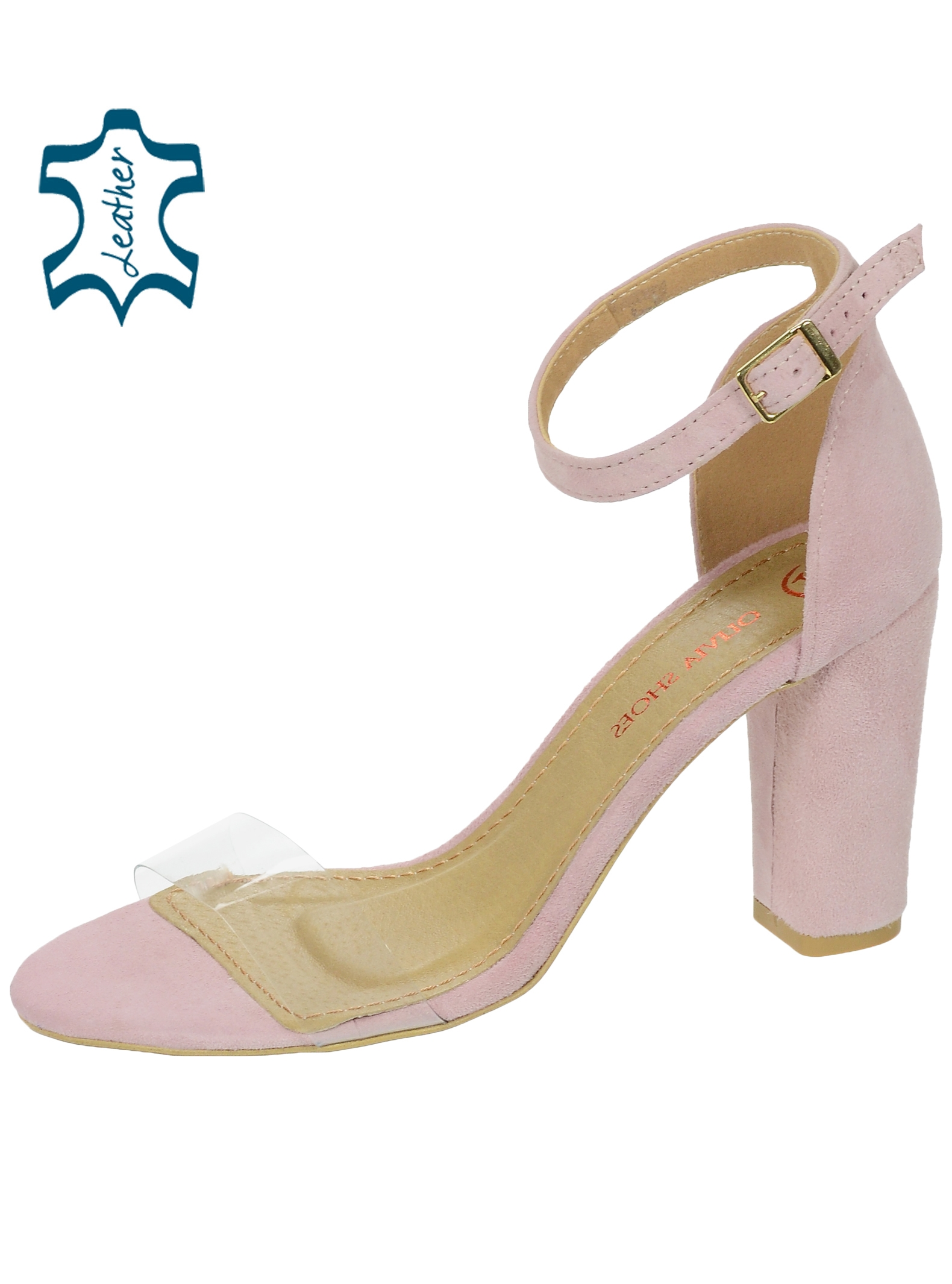 Bledoružové dámske sandále s priesvitným lemom DSA2050-1347