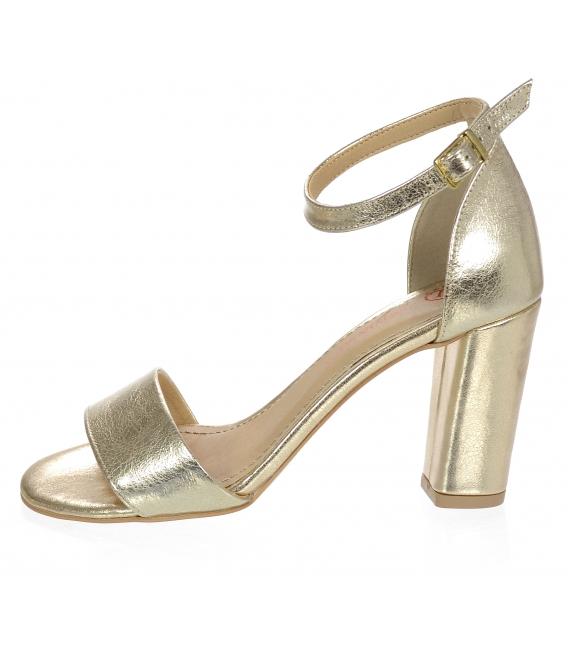 Zlaté dámske sandále DSA2050