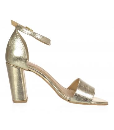 Zlaté dámské sandály DSA2050