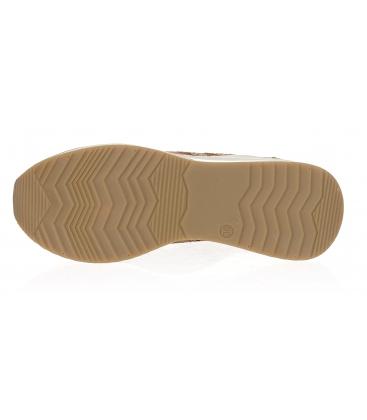 Hnědé kožené tenisky na podešvi Kamila K2081