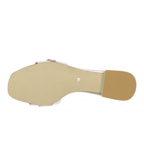 Bielo-zlaté šľapky so zlatou ozdobou DSL2141