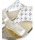 Zlaté elegantné šľapky s potlačou OL K2095