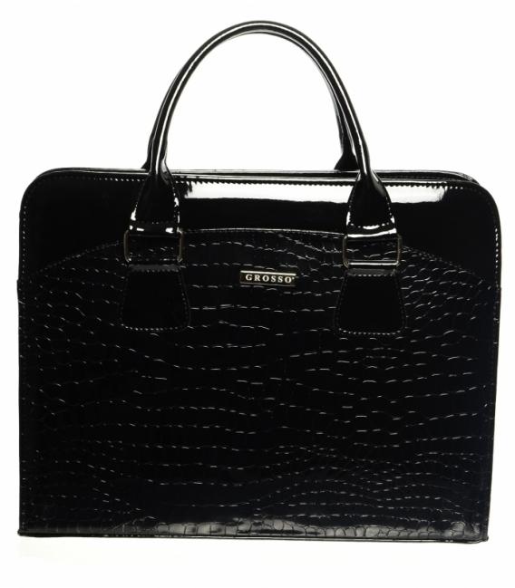 Čierna elegantná taška na notebook ST 01