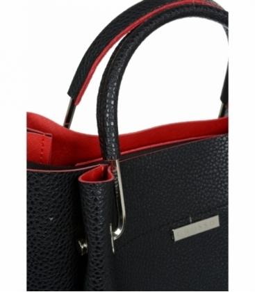 Čierno - červená elegantná kabelka V18SM085BLC - GROSSO