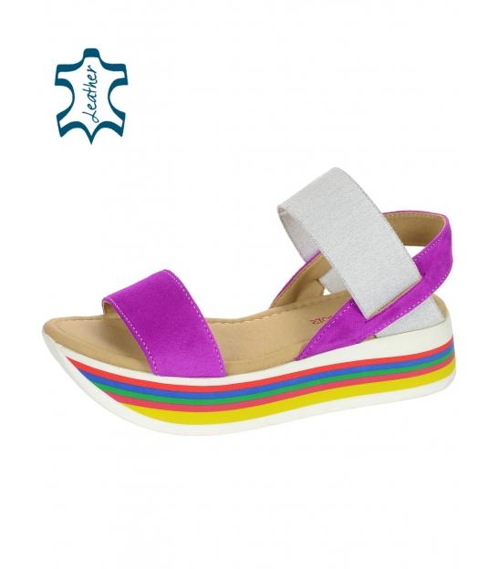 Farebné sandále na farebnej podošve DSA3080