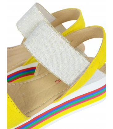 Žlté sandále na farebnej podošve DSA3081