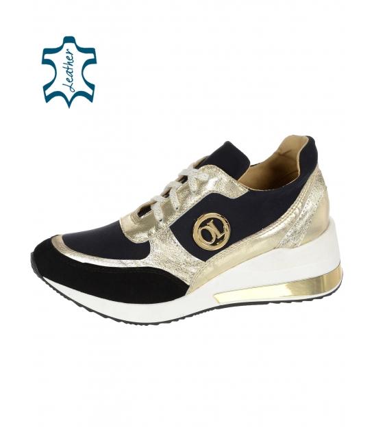 Zlato černé tenisky na podešvi KAMILA DTE 3063 lam