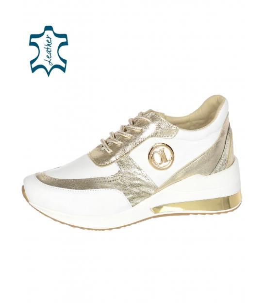 Bielo-zlaté tenisky na podošve KAMILA DTE3063 lam