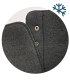 Čierne pohodlné členkové čižmy s ozdobným pásikom OL 3206