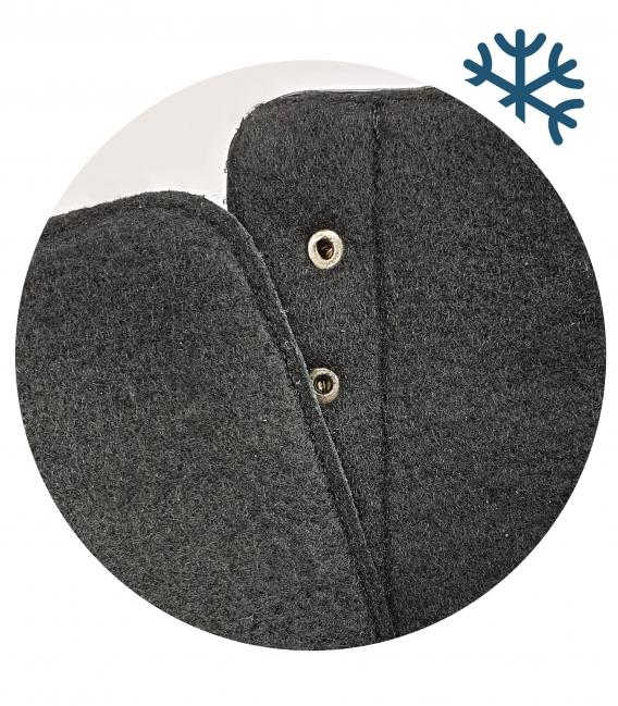 Čierne pohodlné členkové čižmy so vzorom OL 2176
