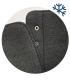 Černé pohodlné kotníkové kozačky se vzorem OL 2176