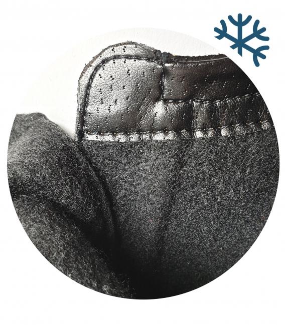 Černé lesklé vzorované kotníkové kozačky se zipy 3095