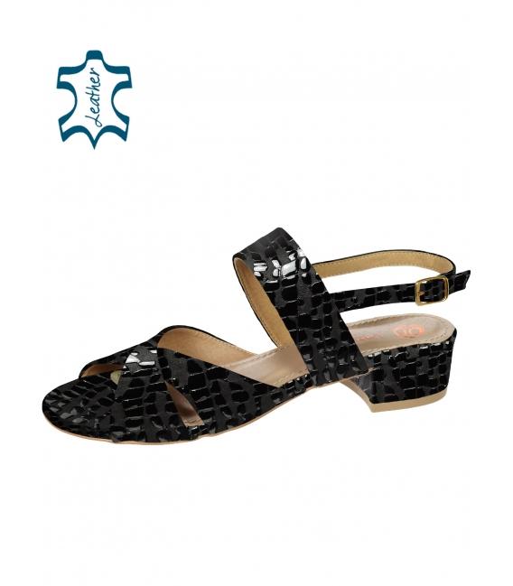 Béžové pohodlné sandály s kroko vzorem DSA2221