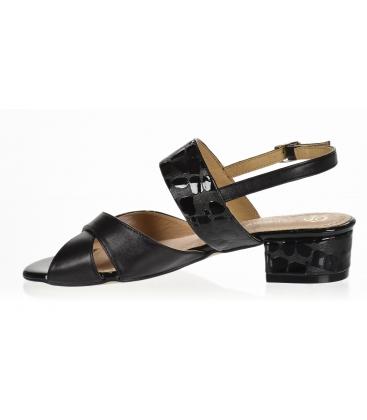 Černé pohodlné sandály s kroko vzorem DSA2221