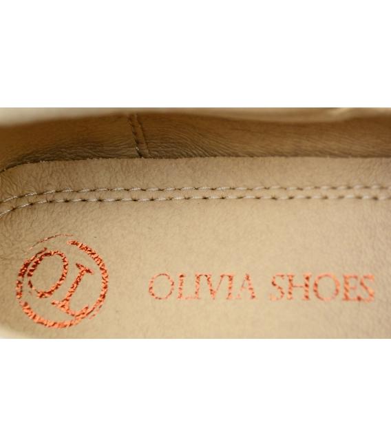 Hnedé kožené poltopánky 191 braz lumpo | OLIVIA SHOES