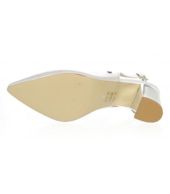 Perleťové lodičky okolo nohy s jemným prešívaním DSA 2213