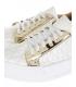 Bílo-stříbrné tenisky s jemným monogramem HANZA DTE3317
