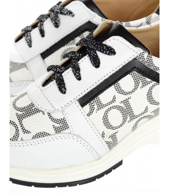 Bielo-čierne tenisky s monogramom DTE3321