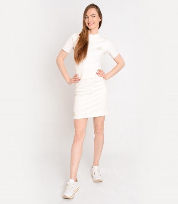 Bílé tričko s ozdobnými kamínky OL