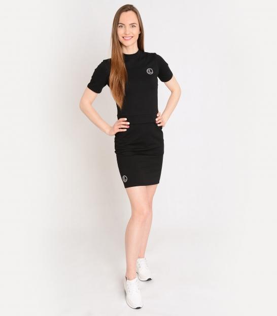 Krémové športové šaty s ozdobnými kamienkami OL ELISS