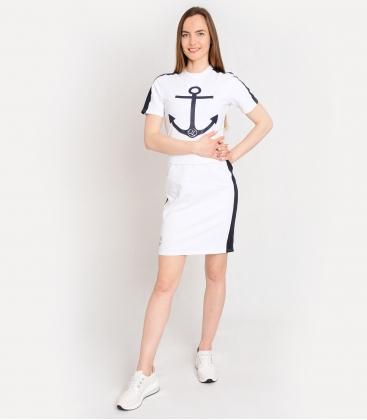 Modré športové šaty s námorníckym motívom SOFIA