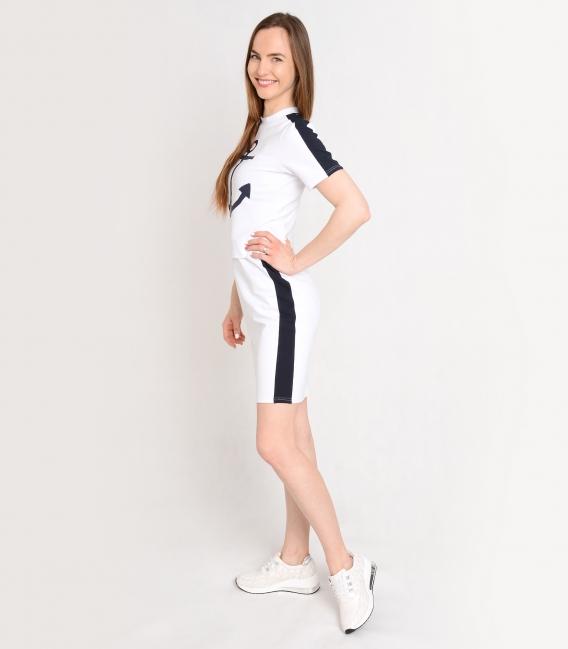 Biele športové šaty s námorníckym motívom SOFIA