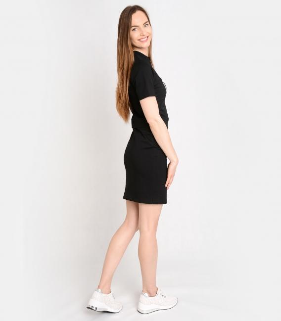 Černé sportovní šaty s ozdobnými kamínky OL VANESA