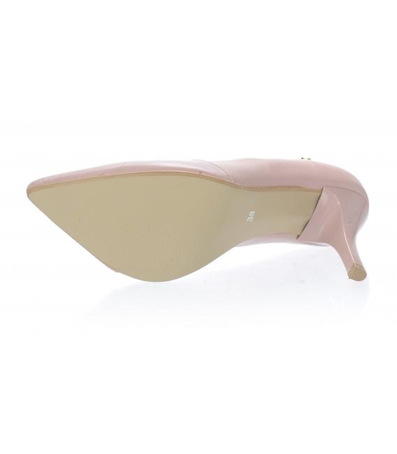Béžové elegantné kožené lodičky 861