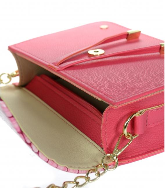 Fuxiová kabelka s kroko vzorem BOBI