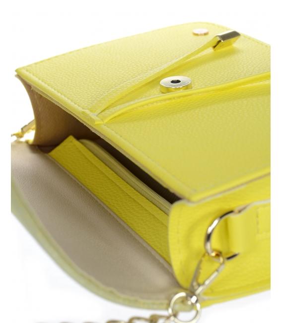 Žluto-zlatá hranatá kabelka BOBI