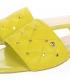 Žlté šľapky s jemným prešívaným zvrškom DSL2206