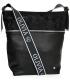 Čierno strieborná väčšia crossbody kabelka s jemným vzorom KALISTO
