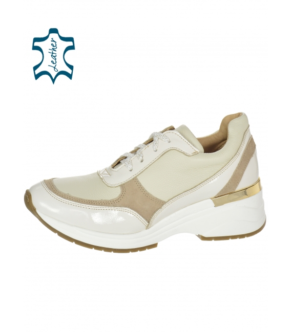Béžové jednoduché tenisky na podošve TAMIRA DTE3307