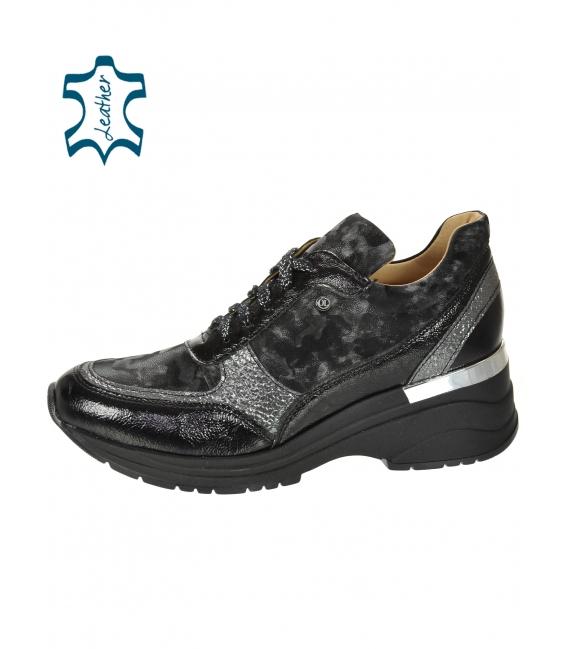 Čierno sivé tenisky so sivým maskáčovým vzorom na podošve TAMIRA DTE3307