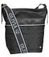 Čierna crossbody kabelka s 3D vzorom a strieborným lemom NINA