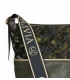 Green larger crossbody handbag with camouflage pattern KALISTO