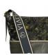 Zelená väčšia crossbody kabelka s maskáčovým vzorom KALISTO