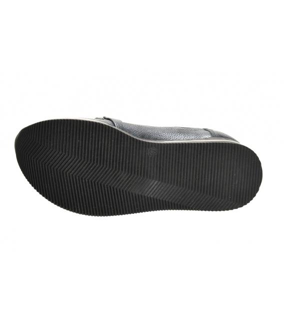 Tmavosivé tenisky s čiernou ozdobou na podošve KARLA DTE3403