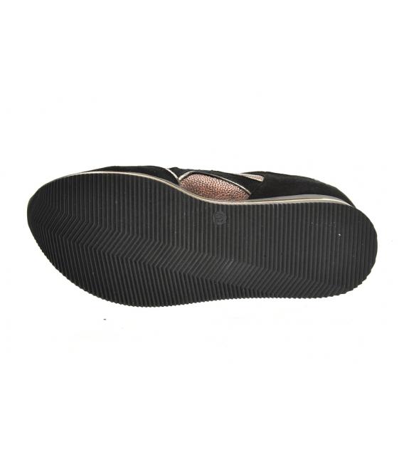 Čierno-hnedé tenisky so vzorom na čiernej podošve KARLA DTE3300