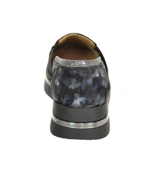 Čierno-modré maskáčové tenisky na podošve KARLA DTE3064