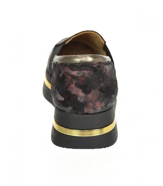 Čierno-bordové maskáčové tenisky na podošve KARLA DTE3064