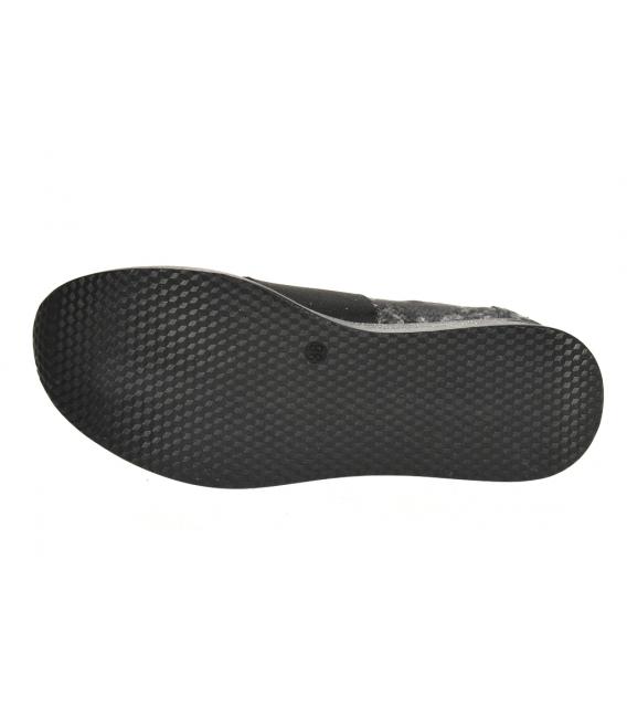 Čierno-sivé tenisky s jemným hadím vzorom DTE3064