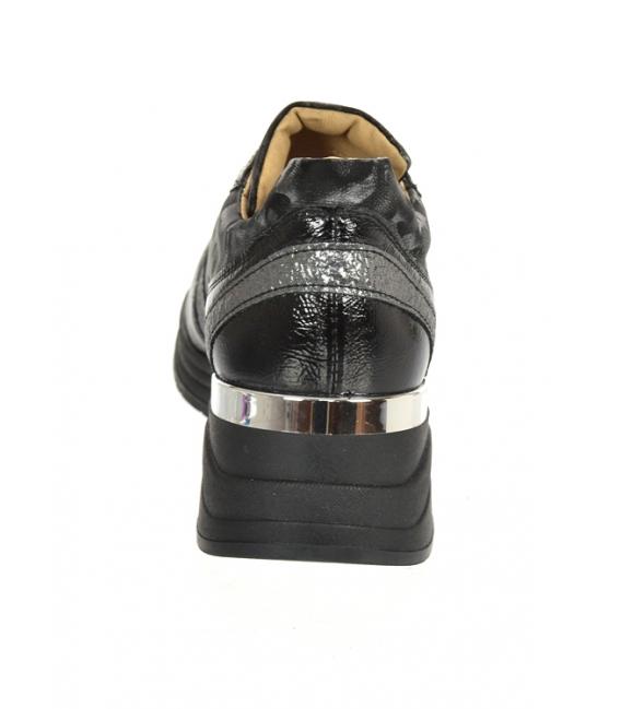 Čierno strieborné tenisky so sivým maskáčovým vzorom na podošve TAMIRA DTE3307