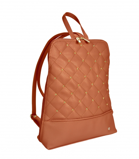 Hnedý ruksak so zlatými aplikáciami IRIS