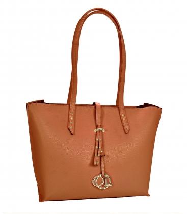 Hnedá elegantná kabelka s dlhými rúčkami Laura