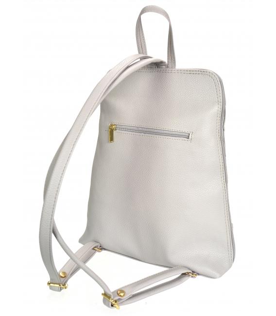 Sivý ruksak so zlatými aplikáciami IRIS